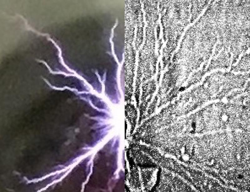 High-speed X-ray image of plasma discharge.